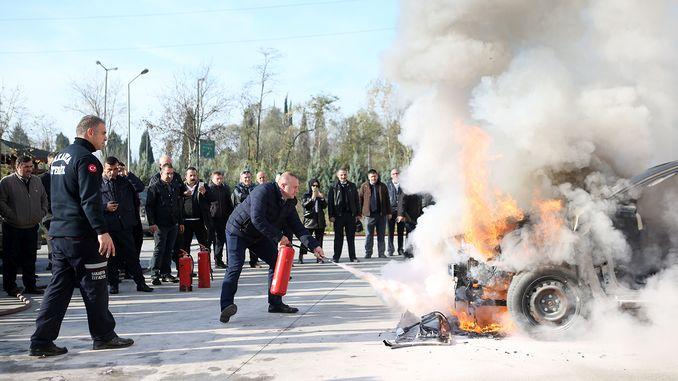sakarya إدارة النقل النقل العام sofor النار التدريب