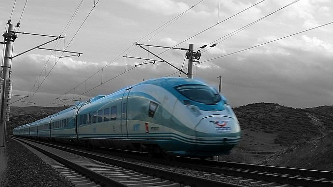 high speed train lines with machine repairs as a result of the tender