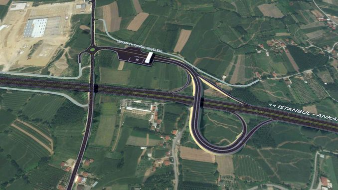 Ministerin für Sakarya New Highway Entry und Double Road Project