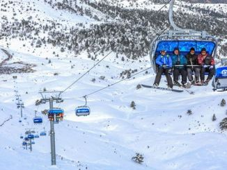 denizli ski resort records the number of visitors