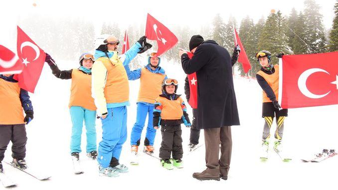 ilgaz dormitory hill ski center was opened to service