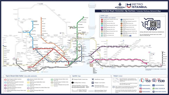 伊斯坦布尔铁路系统地图