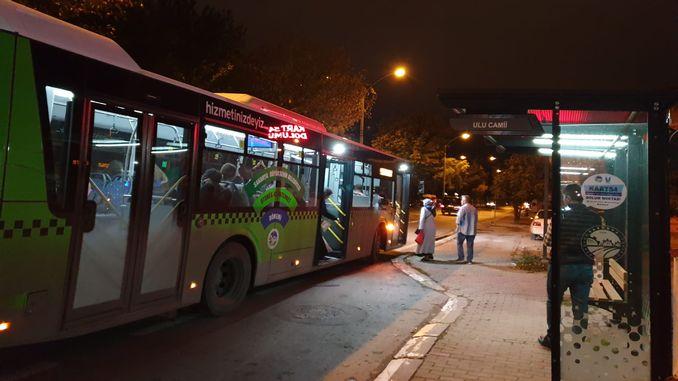 led lighting systems installed at closed bus stops in sakarya