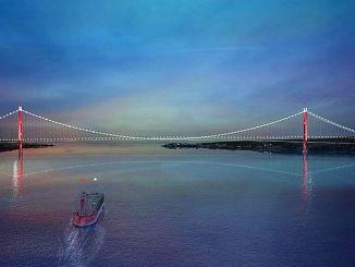 اليوم في يناير كانون الثاني canakkale جسر