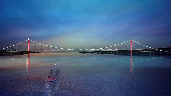 today in january canakkale bridge