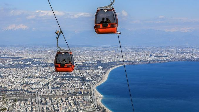 In the year of tunektepe ropeway carried a thousand people to the summit