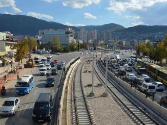 Licitación de la línea de tranvía de la terminal Bursa Kent Meydani vinculada al crédito