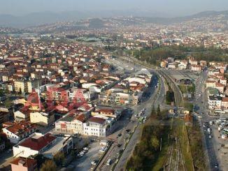 Označeno je železniško mesto v mestu Adapazari
