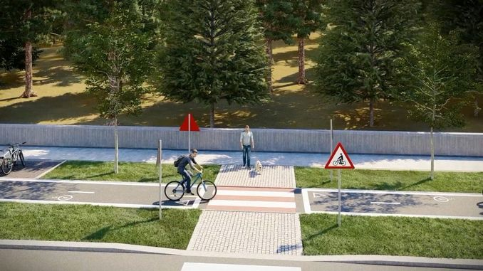 The first pickaxe is hit for the ankara bicycle road project