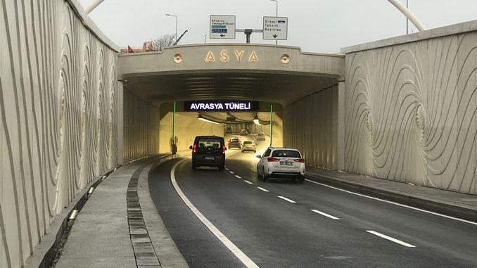 percent increase to eurasia tunnel night fee