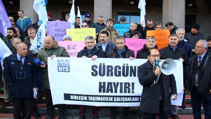 bts kidea erbesteratzeko tcdd zuzendaritza nagusiari egin zioten protesta