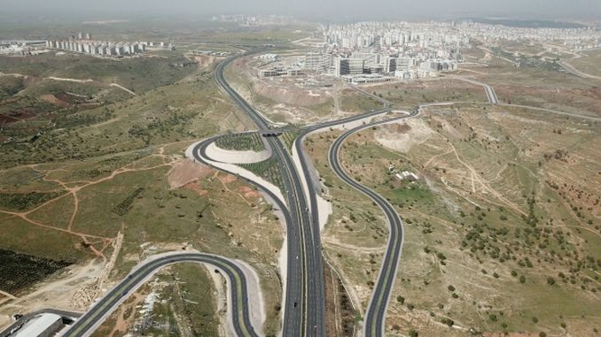 gaziantep city hospital will be connected with the junction with a broken road