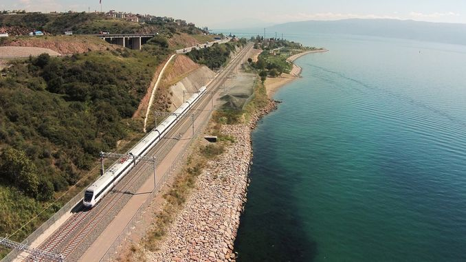 how much istanbul ankara yht line on the anatolian north line linja di falla
