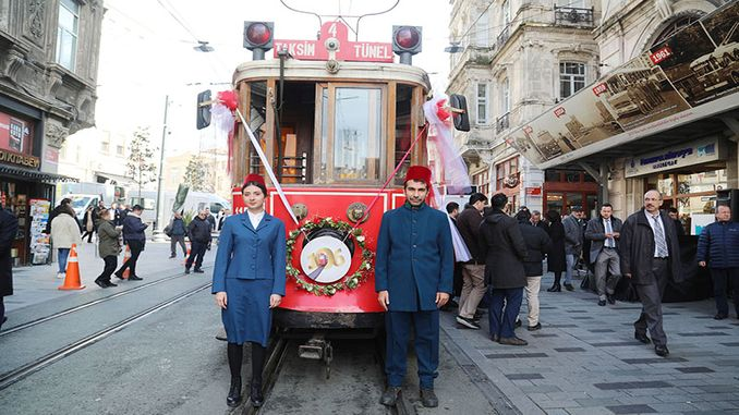 karakoy tunnel is in mourning of nostalgic tram