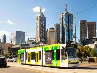 Ang linya ng tram ng melbourne ay pinatatakbo ng enerhiya sa araw