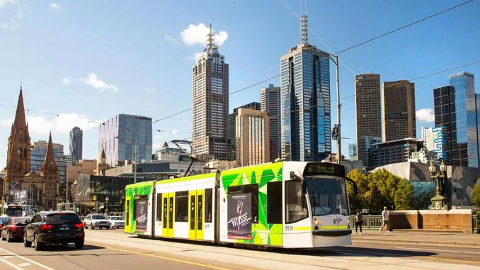 melbourne tram line operated with sun energy