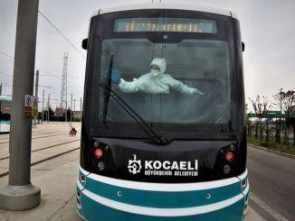 ulasimpark tramvay və avtobusları mikroblardan təmizləyir