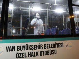 van public transportation vehicles are disinfected against viruses