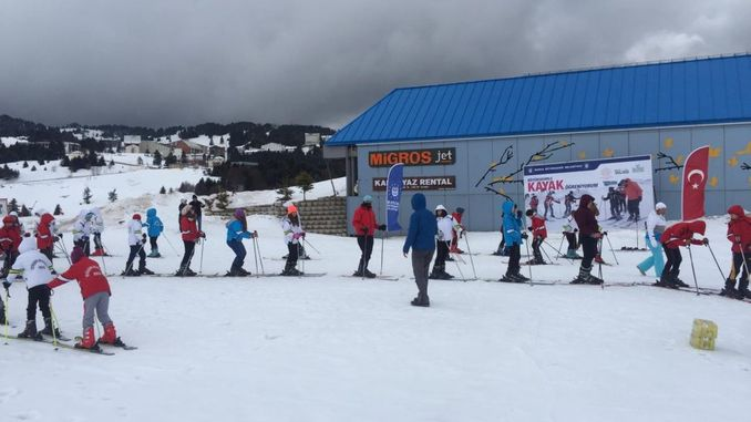 Students from Bursa are Learning Skiing
