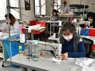 इज्मिर बायूकसेर मास्क उत्पादन गर्न सुरु भयो