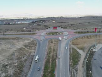 A broken crossroad will be built at the entrance of the main road of Aksaray.