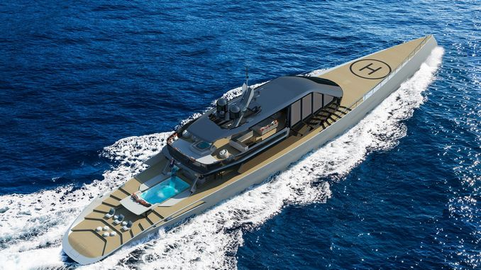 yacht of the german industrial giant from the turkish design office