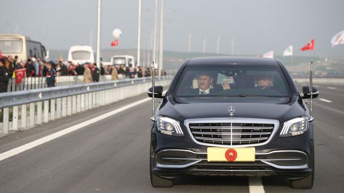 president erdogan attended the emergency toine room section kinali north marmara highway
