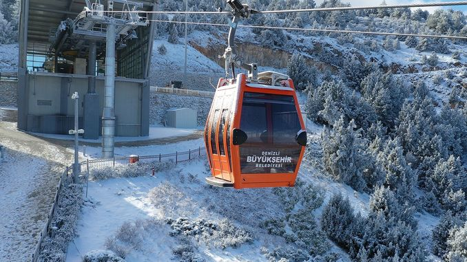 The sea is closed due to the ropeway maintenance work