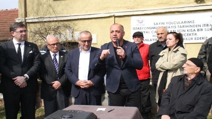 Another action for derbent train station