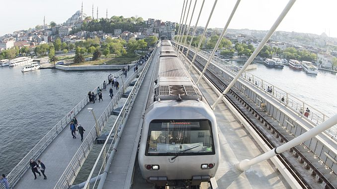 World women's day setting for metro services in Istanbul