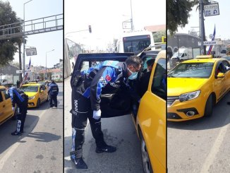 Control of taxis within the scope of the coronavirus precautions in Izmir