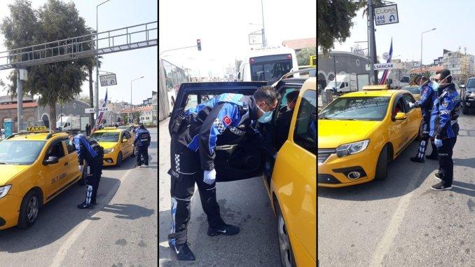 Gudanar da taxis a cikin iyakokin kariyar coronavirus a Izmir