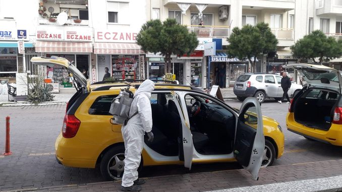 Disinfection studies in distant districts of Izmir