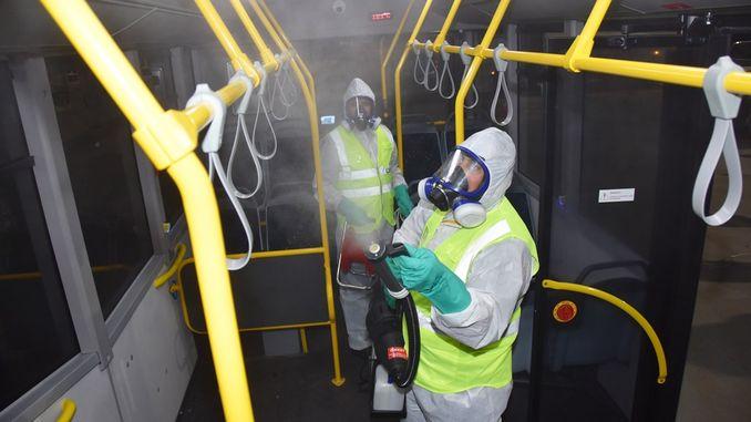 tbb otobusleri salgin hastaliklara karsi dezenfekte ediliyor