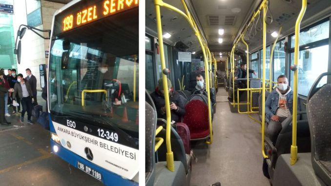 The underground transportation of discharged mehmets was provided by ego buses.