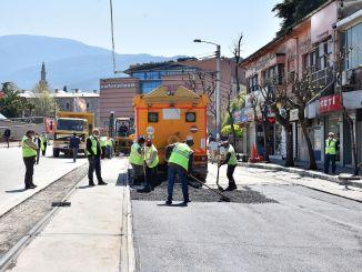 Bursa Kent Meydanı Heykel Tramvay Yolunda Hummalı Çalışma