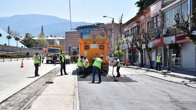 Feverish Work on Bursa City Square Sculpture Tram Road