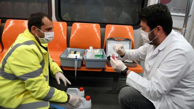 النظافة دون انقطاع في مترو أنقرة وعربات أنقرة