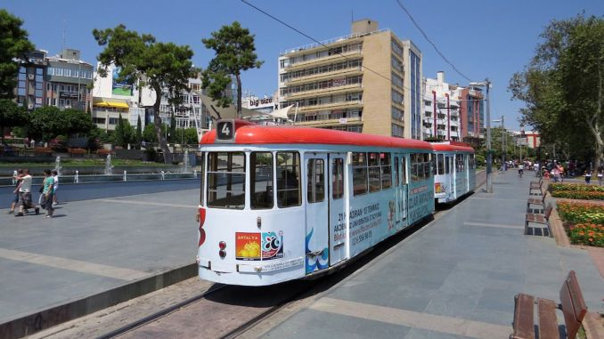 Antalya nostalgia tram services are temporarily suspended