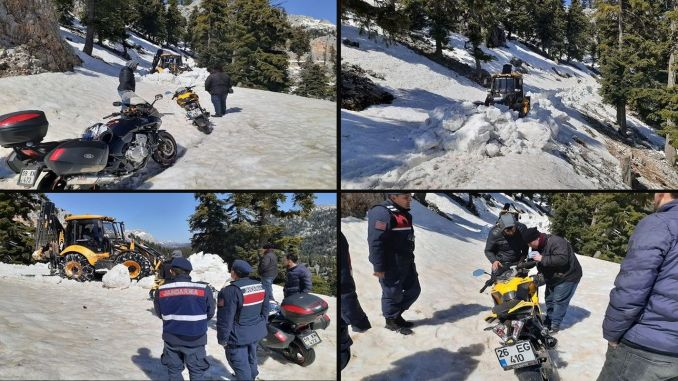 Four citizens who were stuck with their engines in Antalya were rescued