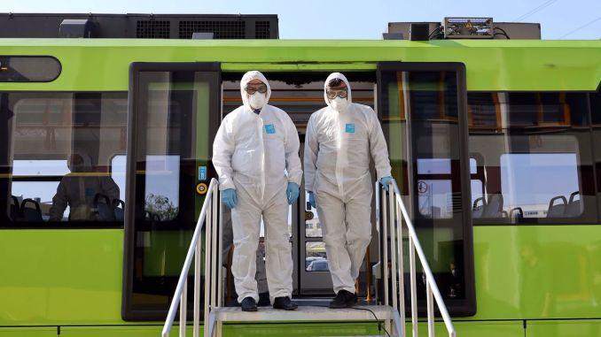 hygiene mobilization in public transportation in bursa