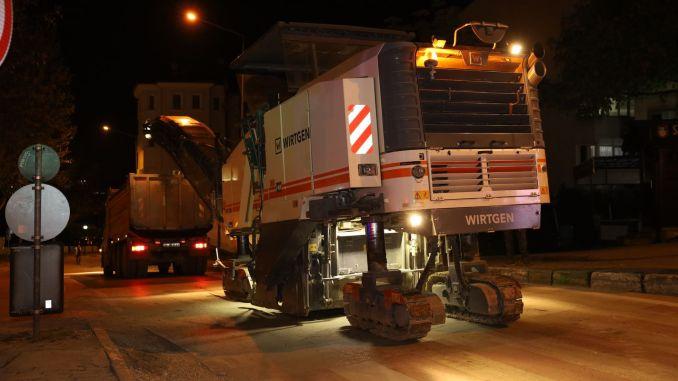 Bursa gefror in der Bursa, pro Woche wurden tausend Tonnen Asphalt berührt
