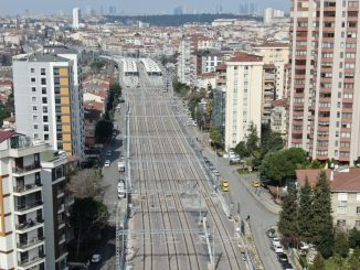 Works on haydarpasa gebze suburban line continues rapidly