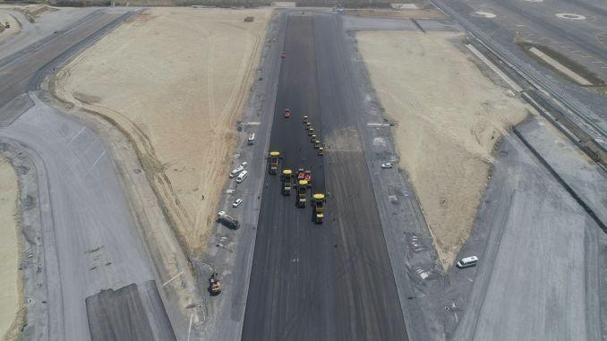 עבודות המסלול בשדה התעופה באיסטנבול נמשכות במלוא המהירות