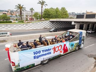 April enthusiasm started with five open buses in Izmir