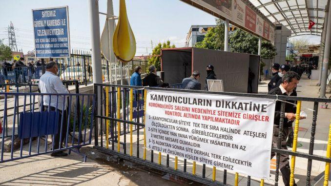 İzmirin atəşi istilik kamerası ilə ölçülür.