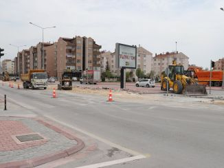 Arrangements are made at the crossroads to relieve traffic in Konya