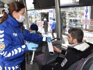 Mask support for citizens who will use public transport vehicles in Manisa