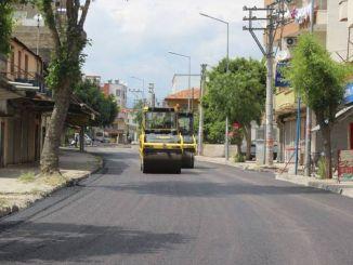 Зайняті вулиці міста заасфальтували чотири дні в Мерсіні