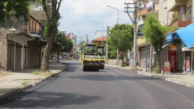 The city's busy streets were asphalted for four days in Mersin